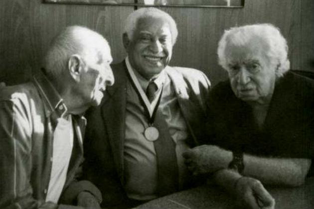 Carybé, Caymmi e Jorge amado