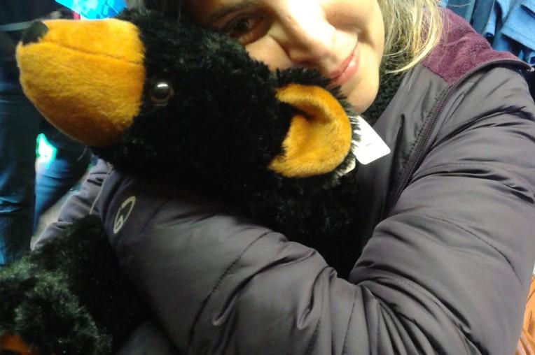 O único urso que achei foi na loja de souvenirs